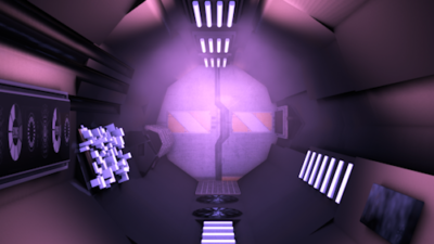 Spaceship Tunnel Corridor Door Opening Loop Clip:01935